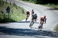 Victor Campenaerts (BEL/Lotto Soudal) leads the early break away group during a descent. <br /> <br /> Baloise Belgium Tour 2019<br /> Stage 4: Seraing – Seraing 151.1km<br /> ©kramon