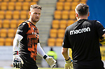 St Johnstone v Dundee United…22.08.21  McDiarmid Park    SPFL<br />Dundee Utd keeper Trevor Carson pictured during the warm-up<br />Picture by Graeme Hart.<br />Copyright Perthshire Picture Agency<br />Tel: 01738 623350  Mobile: 07990 594431