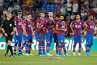 Crystal Palace prepare for penalties during the Carabao Cup 2nd round match between Crystal Palace and Colchester United at Selhurst Park, London, England on 27 August 2019. Photo by Carlton Myrie / PRiME Media Images.