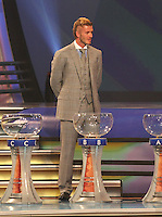 David Beckham talks about Englands group and World Cup chances during the FIFA Final Draw for the FIFA World Cup 2010 South Africa held at the Cape Town International Convention Centre (CTICC) on December 4, 2009.