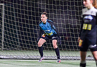 Aalst's Silke Baccarne pictured during a female soccer game between Sporting Charleroi and Eendracht Aalst on the 8th  matchday of the 2020 - 2021 season of Belgian Scooore Womens Super League , friday 20 th of November 2020  in Marcinelle , Belgium . PHOTO SPORTPIX.BE | SPP | DAVID CATRY
