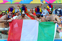 Italy fans in fancy dress soak up the atmosphere before kick off