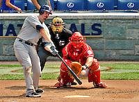 29 May 2011: San Diego Padres infielder Brad Hawpe in action against the Washington Nationals at Nationals Park in Washington, District of Columbia. The Padres defeated the Nationals 5-4 to take the rubber match of their 3-game series. Mandatory Credit: Ed Wolfstein Photo