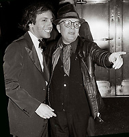 Rubell Capote6842.JPG.New York, NY 1978 FILE PHOTO.<br /> <br /> Steve Rubell, Truman Capote at Studio 54, 1978<br /> <br /> Digital photo by Adam Scull-PHOTOlink.