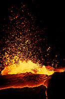 Kupinaha vent, lava birthing, from Kilauea volcano at Hawaii Volcanoes National park.