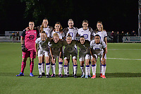 (Back row L to R) goalkeeper Justien Odeurs (13) of Anderlecht, Marie Van Caesbroeck (15) of Anderlecht, Amber Maximus (9) of Anderlecht, Michelle Colson (2) of Anderlecht, Karina Pelikanova (22) of Anderlecht , Tessa Wullaert (27) of Anderlecht  (front row L to R) Sarah Wijnants (11) of Anderlecht, Charlotte Tison (20) of Anderlecht, Laura Deloose (14) of Anderlecht, Stefania Vatafu (10) of Anderlecht and Mariam Abdulai Toloba (19) of Anderlecht pose for a team photo before a female soccer game between  Racing Genk Ladies and Royal Sporting Club Anderlecht , a delayed game from the 1st  matchday of the 2021-2022 season of the Belgian Scooore Womens Super League , tuesday 28 September 2021  in Genk , Belgium . PHOTO SPORTPIX | JILL DELSAUX