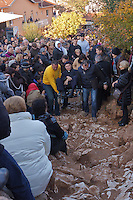 handicapped are caried to the place of apparition of the Virgin Mary on Nov 2nd, 2011