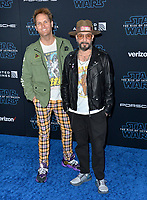 "LOS ANGELES, USA. December 17, 2019: AJ McLean & Mark Adler at the world premiere of ""Star Wars: The Rise of Skywalker"" at the El Capitan Theatre.<br /> Picture: Paul Smith/Featureflash"