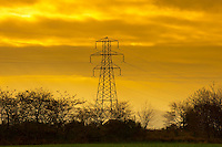 Electricity pylon  Errol, Perth and Kinross, Scotland.