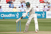 Lyndon James hits out for Nottinghamshire during Essex CCC vs Nottinghamshire CCC, LV Insurance County Championship Group 1 Cricket at The Cloudfm County Ground on 3rd June 2021
