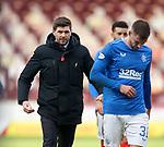 17.01.2021 Motherwell v Rangers: Steven Gerrard at full time
