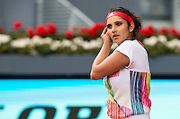 Indian Sania Mirza during Doubles Woman Final Mutua Madrid Open Tennis 2016 in Madrid, May 07, 2016. (ALTERPHOTOS/BorjaB.Hojas) /NortePhoto.com