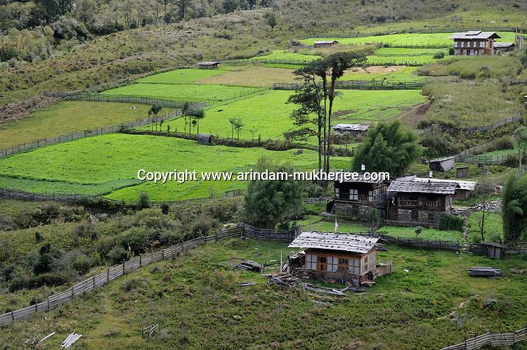 A small village  on the way to Trongsha. Arindam Mukherjee..