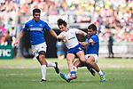 Samoa vs South Korea during their Pool A match as part of the HSBC Hong Kong Rugby Sevens 2017 on 08 April 2017 in Hong Kong Stadium, Hong Kong, China. Photo by Marcio Rodrigo Machado / Power Sport Images