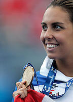 Italy's Alessia Filippi celebrates after winning the bronze medal in the Women's 800m Freestyle final at the Swimming World Championships in Rome, 1 August 2009..UPDATE IMAGES PRESS/Riccardo De Luca