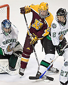 Jordan Parise, Ryan Stoa, Brian Lee - The University of Minnesota Golden Gophers defeated the University of North Dakota Fighting Sioux 4-3 on Friday, December 9, 2005, at Ralph Engelstad Arena in Grand Forks, North Dakota.