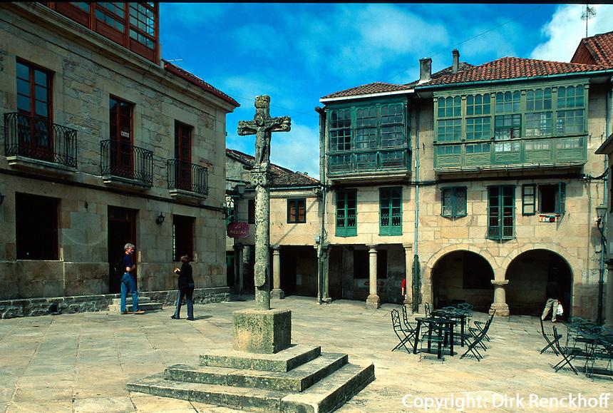 Spanien, Galicien, Pontevedra, Plaza de la Leña