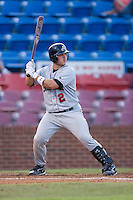 Koby Clemens (2) of the Salem Avalanche at bat at Ernie Shore Field in Winston-Salem, NC, Thursday July 27, 2008. (Photo by Brian Westerholt / Four Seam Images)