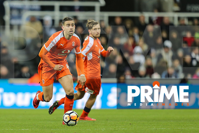 Olly Lee of Luton Town during the FA Cup 3rd round match between Newcastle United and Luton Town at St. James's Park, Newcastle, England on 6 January 2018. Photo by David Horn.