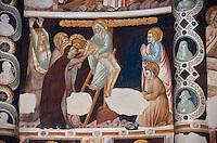 Italien, Lombardei, Fresken aus dem 14. Jh. in der Kirche Sant' Abbondio in Como