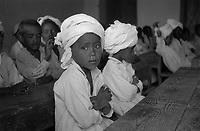A portrait of a schoolboy in white - Khartoum, Sudan,DEC 1961