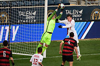 Chester, PA - Sunday December 10, 2017: Nico Corti, Trevor Swartz. Stanford University defeated Indiana University 1-0 in double overtime during the NCAA 2017 Men's College Cup championship match at Talen Energy Stadium.