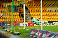 3rd October 2020; Carrow Road, Norwich, Norfolk, England, English Football League Championship Football, Norwich versus Derby; Tim Krul of Norwich City cannot save the free kick taken by Wayne Rooney of Derby County as he scores for 0-1 in the 86th minute