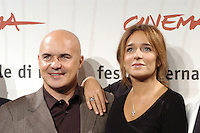 "LUCA ZINGARETTI & VALERIA GOLINO .attend a photocall to promote the movie ""A Casa Nostra"" on the eighth day of Rome Film Festival (Festa Internazionale di Roma) in Rome, Italy, October 20th 2006..portrait headshot.Ref: CAV.www.capitalpictures.com.sales@capitalpictures.com.©Luca Cavallari/Capital Pictures."
