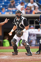 Quad Cities River Bandits catcher Christian Correa (9) during a game against the Bowling Green Hot Rods on July 24, 2016 at Modern Woodmen Park in Davenport, Iowa.  Quad Cities defeated Bowling Green 6-5.  (Mike Janes/Four Seam Images)