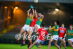 Thomas O'Donnell, Kerry Conor Horan, Kerry in action against Eoghan Nash, Cork during the Munster Minor Semi-Final between Kerry and Cork in Austin Stack Park on Tuesday evening.