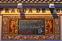 La Fragua de Vulcano, exterior menu, Madrid, Spain