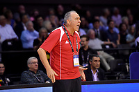 Syria's Coach Veselin Matic in action during the FIBA World Cup Basketball Qualifier - NZ Tall Blacks v Syria at TSB Bank Arena, Wellington, New Zealand on Sunday 2 2018. <br /> Photo by Masanori Udagawa. <br /> www.photowellington.photoshelter.com