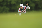 Ross Fisher lines up a putt on the 5th green during the final round of the ISPS Handa Wales Open 2012..03.06.12.©Steve Pope