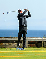 140719 | The 148th Open - Sunday Practice<br /> <br /> Tiger Woods on the 6th tee during practice for the 148th Open Championship at Royal Portrush Golf Club, County Antrim, Northern Ireland. Photo by John Dickson - DICKSONDIGITAL