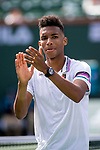 March 9, 2019: Felix Auger-Aliassime (CAN) defeated Stefanos Tsitsipas (GRE) 6-4, 6-2 at the BNP Paribas Open at the Indian Wells Tennis Garden in Indian Wells, California. ©Mal Taam/TennisClix/CSM