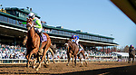 November 7, 2020 : Monomoy Girl, ridden by Florent Geroux, wins the Longines Distaff on Breeders' Cup Championship Saturday at Keeneland Race Course in Lexington, Kentucky on November 7, 2020. Alex Evers/Breeders' Cup/Eclipse Sportswire/CSM