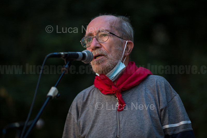 """Giuliano Giuliani, Father of Carlo Giuliani.<br /> <br /> Genoa (Genova, Liguria), Italy. 19th, 20th, 21st July 2021. Twenty years after the dramatic and terrifying events related to the 2001 Genoa's G8 meeting, according to Amnesty International: """"the most serious suspension of democratic rights in a Western country since the Second World War"""" (1.) and as stated on the 2001 """"Report on the situation of fundamental rights in the EU"""" the European Parliament's """"deplores the suspensions of fundamental rights that took place during public demonstrations, and in particular at the G8 meeting in Genoa, such as freedom of expression, freedom of movement, the right to physical integrity"""" (2.). As a reminder, the City of Genoa is State Gold Medal (Medaglia D'Oro) for its Antifascist Resistance in World War II.<br /> <br /> In these three days, throughout a series of events, Genoa and its People, survivors and witnesses, experts and activists, remembered what happened 20 years ago, discussed the present situation of a world dominated by """"casino capitalism"""", predatory neo-liberalism, wars, rightless globalization, environmental and ecosystem degradation, doped consumerism, sources' depredation, fake news, internet deregulated jungle, the reality of climate change and pandemics, and what a different future and society could be.<br /> <br /> FOR MORE INFO READ THE ARTICLE AT THE BEGINNING OF THIS STORY.<br /> <br /> Footnotes, Links:<br /> 1. http://bit.do/fRvdg<br /> 2. http://bit.do/fRvdi<br /> 3. http://bit.do/fRvdj<br /> 4. http://bit.do/fRvdn<br /> 5. http://bit.do/fRvdo<br /> 6. 12.10.18 - Sulla Mia Pelle: Stefano Cucchi's Film Screening At CSOA La Strada http://bit.do/fRvdr<br /> 7. http://bit.do/fRvdt & http://bit.do/fRvdu<br /> 8. http://bit.do/fRvdv & http://bit.do/fRvdw & http://bit.do/fRvdx<br /> 9. http://bit.do/fRvdz<br /> 10. http://bit.do/fRvdA<br /> 11. http://bit.do/fRvdB<br /> http://www.veritagiustizia.it/docs/G8_2021_prog_ITA.pdf http://www.veritagiustizia.it/"""