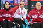 Dennis Thiessen, Sochi 2014 - Wheelchair Curling // Curling en fauteuil roulant.<br /> Canada takes on Slovakia in round robin play // Le Canada affronte la Slovaquie dans le tournoi à la ronde. 13/03/2014.