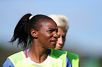 Cary, NC - Sunday October 22, 2017: Crystal Dunn during an International friendly match between the Women's National teams of the United States (USA) and South Korea (KOR) at Sahlen's Stadium at WakeMed Soccer Park. The U.S. won the game 6-0.
