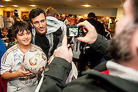 Tuesday  15 December 2015<br /> Pictured: Jack Cork<br /> Re: Kids SCFC Christmas Party at the Liberty Stadium, Swansea