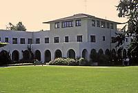 Bishop's School--Gilman Hall. Irving Gill, 1917. Independent college preparatory Episcopal day school located at 7607 La Jolla Boulevard in La Jolla.