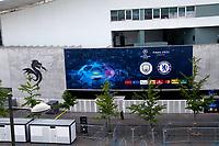 29th May 2021; Porto, Portugal;  UEFA Champions League football final, Chelsea FC versus manchester City;  Faade of Estdio do Drago prepared to host the UEFA Champions League final in the city of Porto, Portugal.
