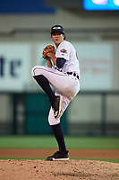 Lakeland Flying Tigers relief pitcher Jason Foley (22) during a Florida State League game against the Palm Beach Cardinals on April 17, 2019 at Publix Field at Joker Marchant Stadium in Lakeland, Florida.  Lakeland defeated Palm Beach 1-0.  (Mike Janes/Four Seam Images)