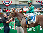 July 6, 2019: Code of Honor, ridden by John Velazquez, wins the 2019 running of the G2 Dwyer S. at Belmont Park in Elmont, NY. Sophie Shore/ESW/CSM