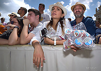 People St. Peter square.Pope Francis during of a weekly general audience at St Peter's square in Vatican.June 13, 2018