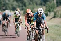 Wout Van Aert (BEL/Vérandas Willems-Crelan) and others leading the race<br /> <br /> 92nd Schaal Sels 2017 <br /> 1 Day Race: Merksem > Merksem (188km)