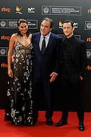 Oliver Stone, Joseph Gordon Levitt and Shailene Woodley attend the Snowden premiere during the 64th San Sebastian Film festival at El Kursaal in San Sebastian, Spain, 22/09/2016. # FESTIVAL INTERNATIONAL DU FILM DE SAN SEBASTIAN - JOUR 8