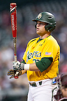 Texas A&M Aggies designated hitter Cameron Miller (32) at the plate during the Houston College Classic against the Baylor Bears on March 8, 2015 at Minute Maid Park in Houston, Texas. Texas A&M defeated Baylor 3-2. (Andrew Woolley/Four Seam Images)