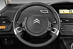 Steering wheel view of a 2006 - 2012 Citroen C4 Picasso Business Mini MPV.