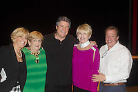 """Michael O'Leary's mom Sheila (green), sisters Reenie and Sharon & bro-law Robert - Guiding Light's Michael O'Leary author of """"Breathing Under Dirt"""" - full play - had its world premier on August 13 and 14, 2016 at the Ella Fitzgerald Performing Arts Center, University of Maryland Eastern Shore, Princess Anne, Maryland  (Photo by Sue Coflin/Max Photos)"""